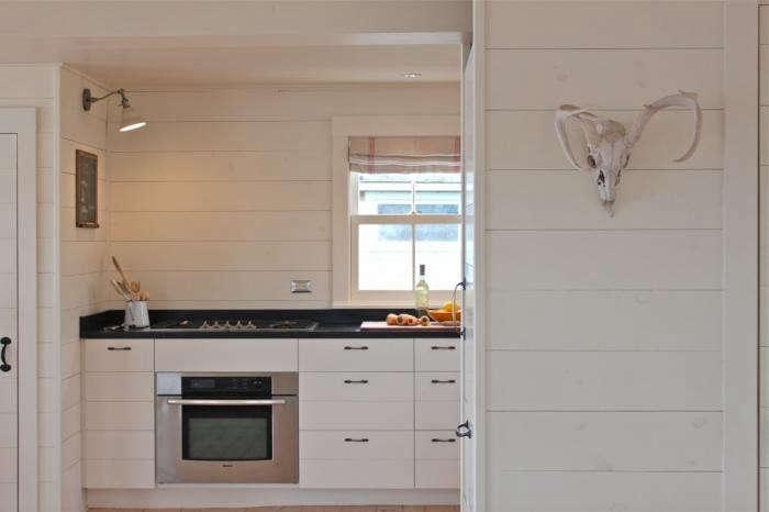 Shiplap Kitchen Installed In Harbor Cottage Kitchen Photo Justine Hand