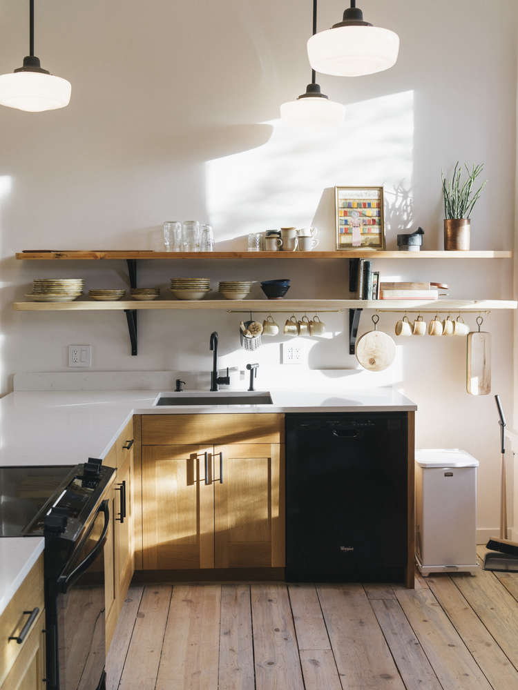 Kitchen of the Week: A Communal Kitchen/Library at the Jennings Hotel