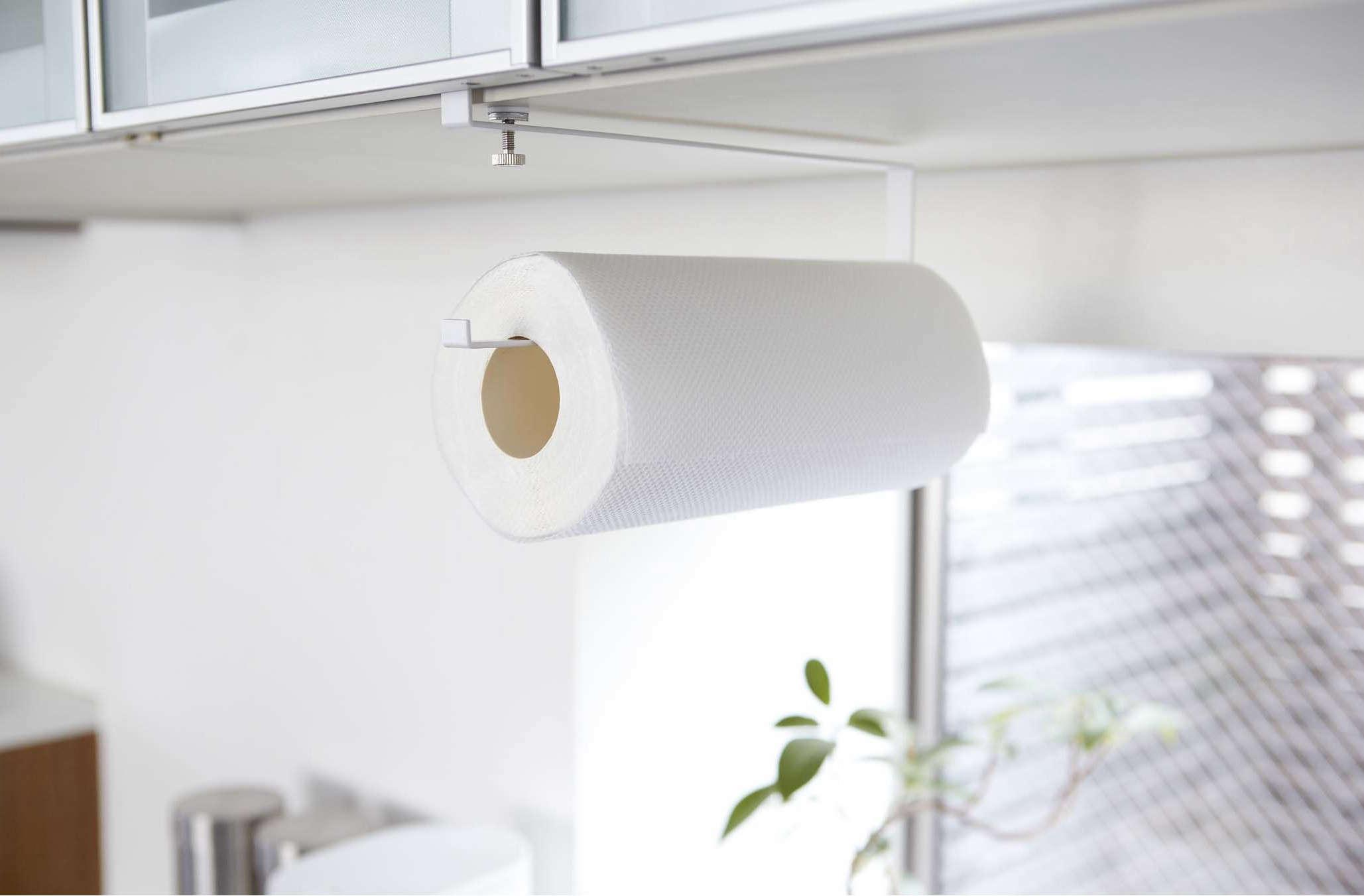 favorites the nodrill instant paper towel holder  remodelista - plateundershelfpapertowelholder ()