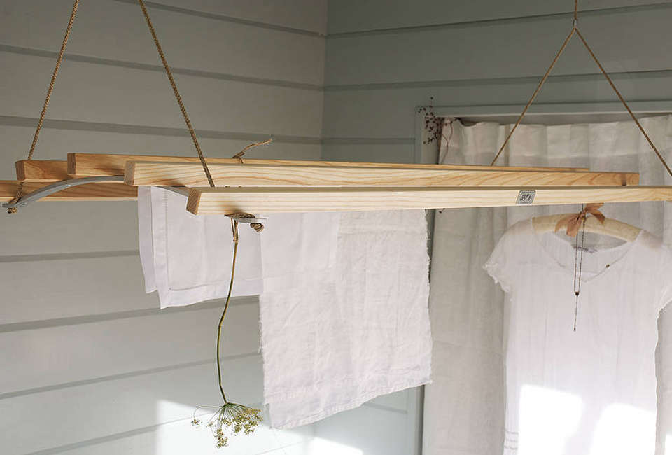 10 easy pieces wooden laundry racks remodelista - Laundry drying racks for small spaces property ...