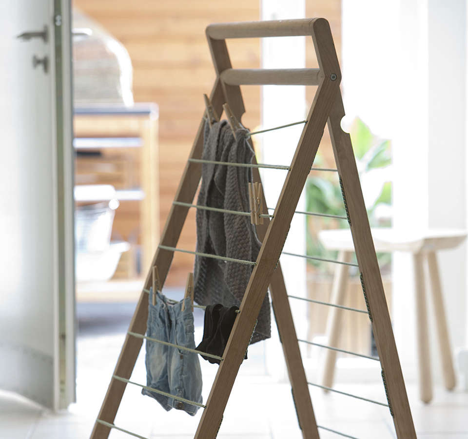 10 easy pieces wooden laundry racks remodelista. Black Bedroom Furniture Sets. Home Design Ideas