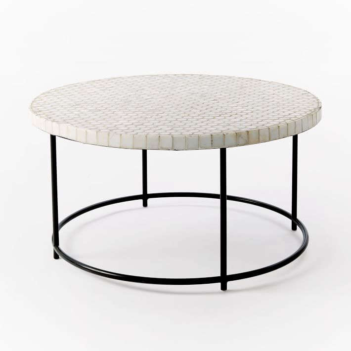 Mosaic Tiled Coffee Table Gardenista