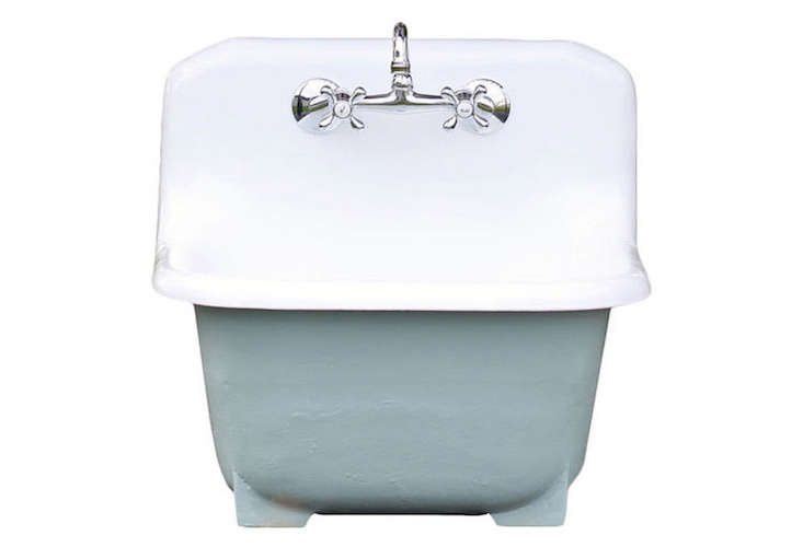 Deep Basin Cast Iron Porcelain Farm Utility Sink