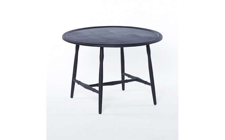 Round Black Metal Outdoor Coffee Table Gardenista