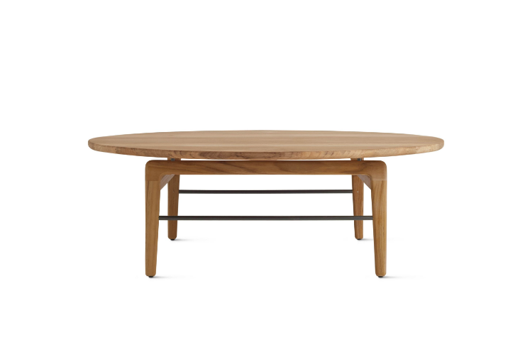Outdoor Table For 10 Part - 48: Teak-round-wood-outdoor-coffee-table-gardenista