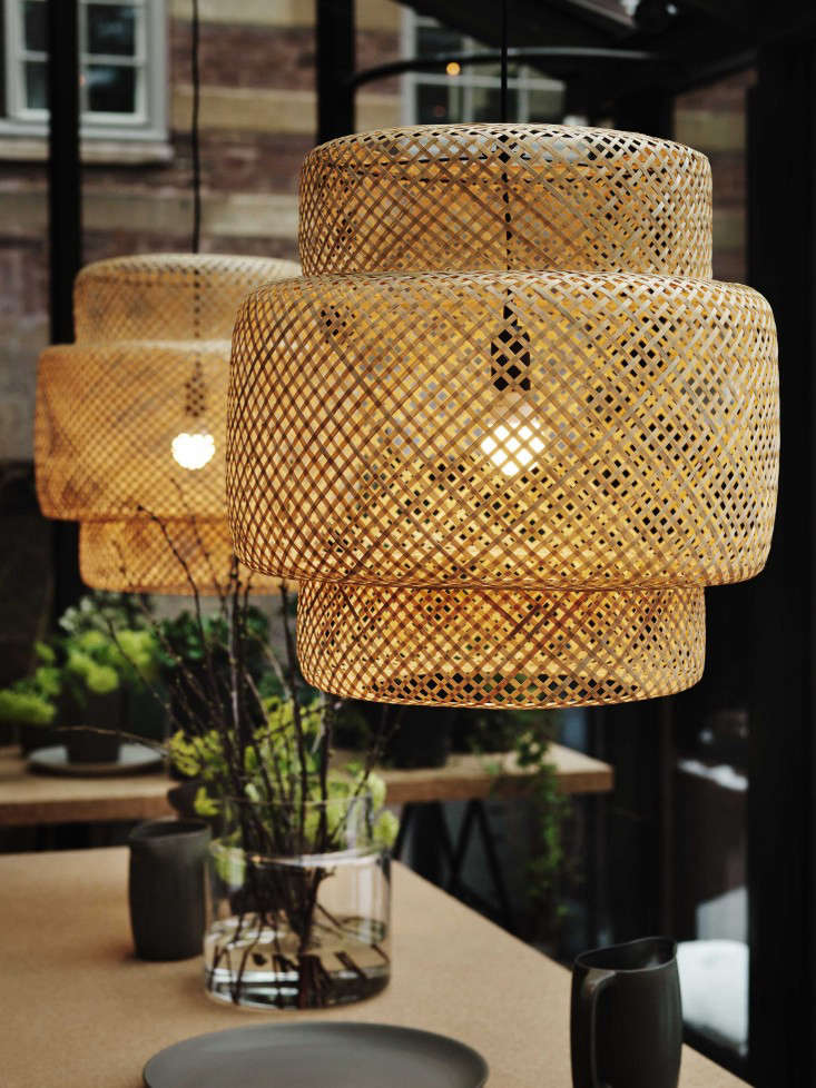 10 easy pieces airy woven pendant lights gardenista. Black Bedroom Furniture Sets. Home Design Ideas