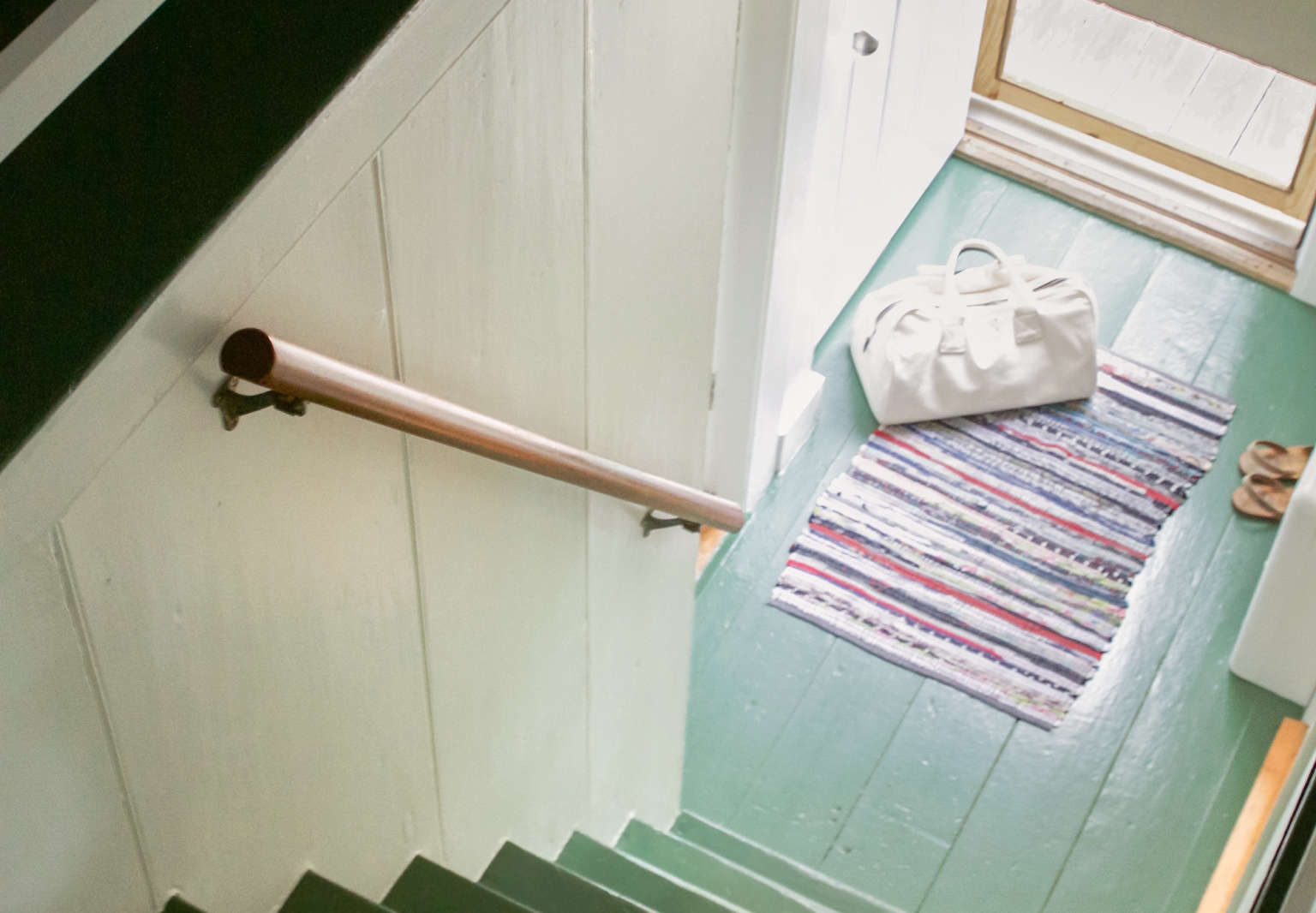 New England Practical The Case for Painted Wood Floors in the Summer Cottage portrait 3