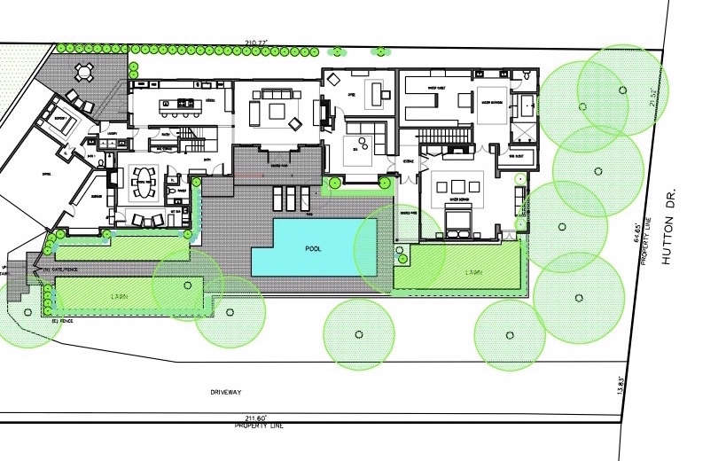 Swimming pool of the week a modern update in beverly for Swimming pool site plan