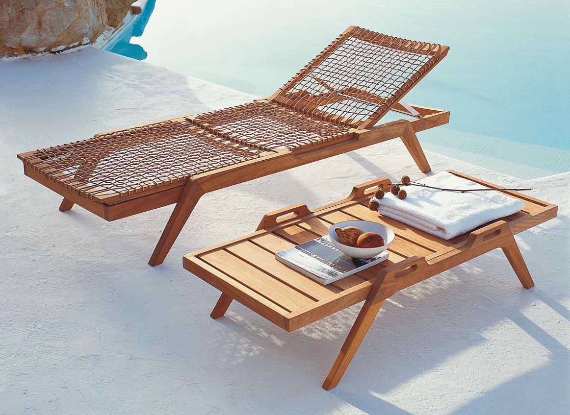 In Addition To The Teak Wood, The Synthesis/Serene Line Is Made With  Waprolace, A Handwoven Synthetic Fiber That Is Waterproof And Fully  Recyclable.