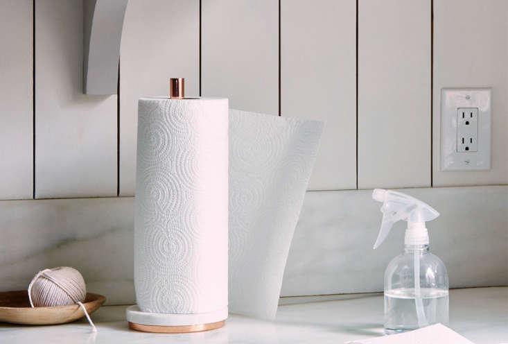 Marble & Metal Paper Towel Holder