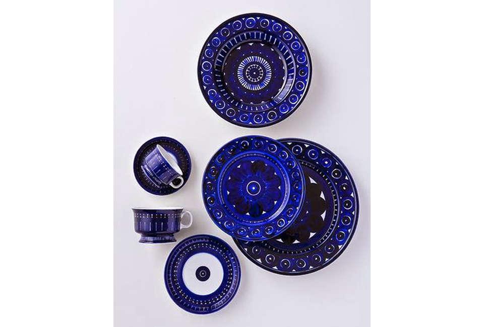 Granatowa Porcelana Skandynawska Dinnerware