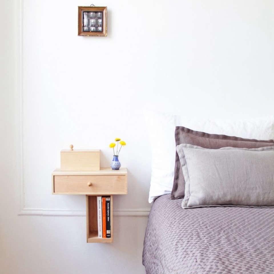 Wall Bedside Table 10 Easy Pieces Wallmounted Bedside Shelves With Drawers