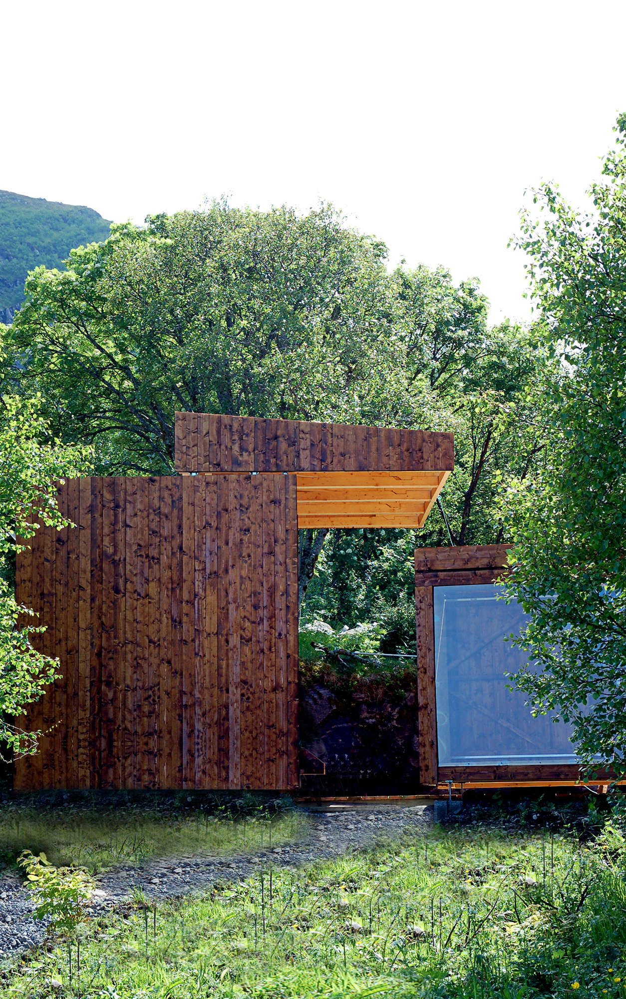 ^ Outbuilding of the Week: See-hrough Shed on a Picturesque ...