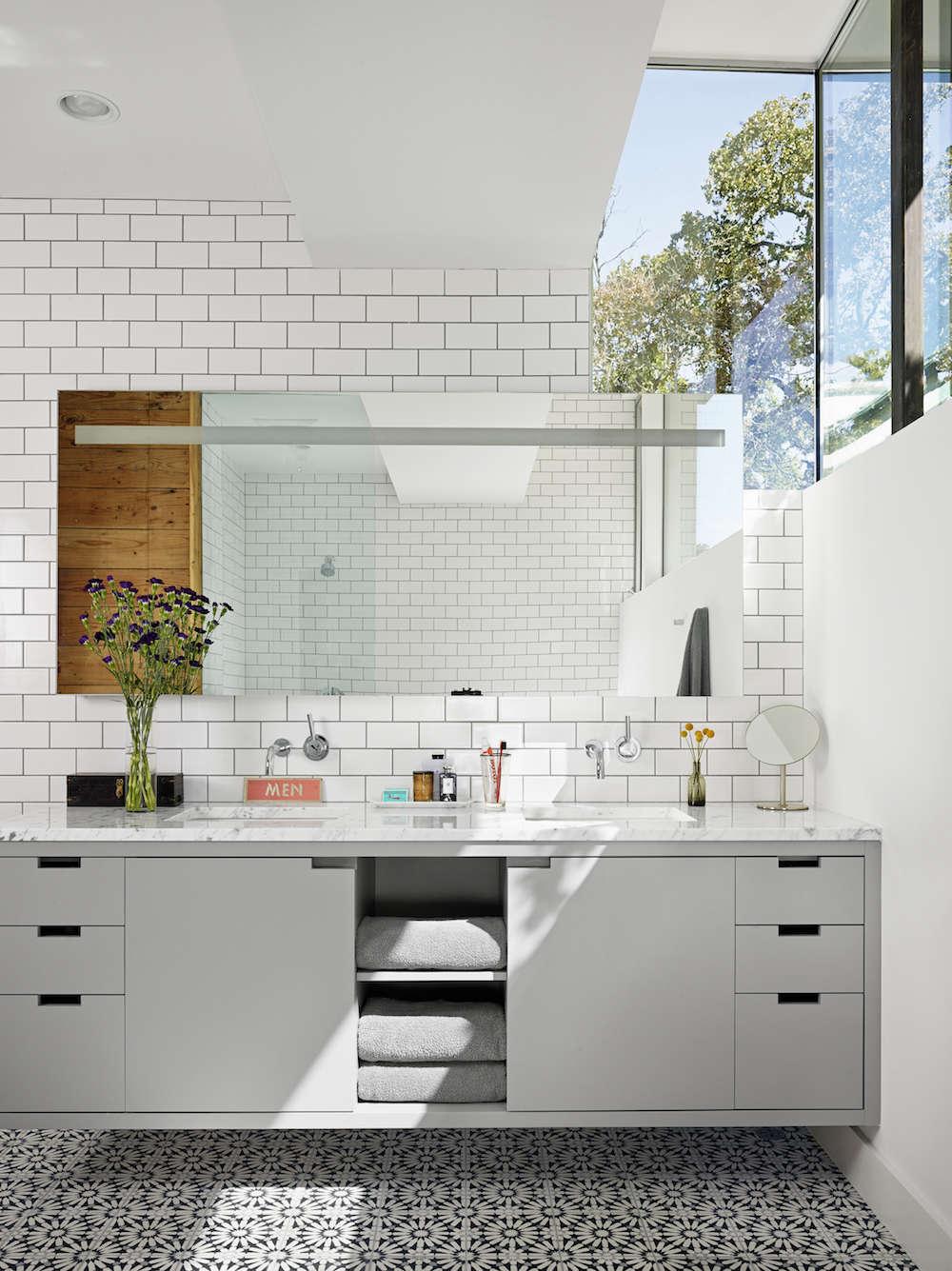 Hugh Jefferson Randolph Bathroom Grout Tile Remodelista 1