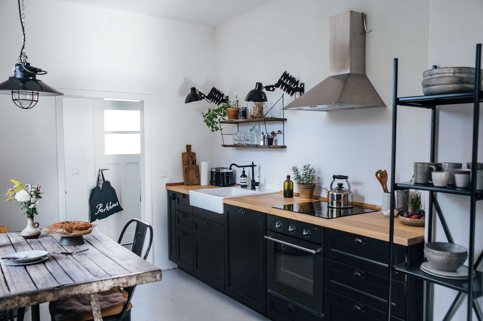 kitchen of the week a diy ikea country kitchen for two berlin creatives remodelista. Black Bedroom Furniture Sets. Home Design Ideas