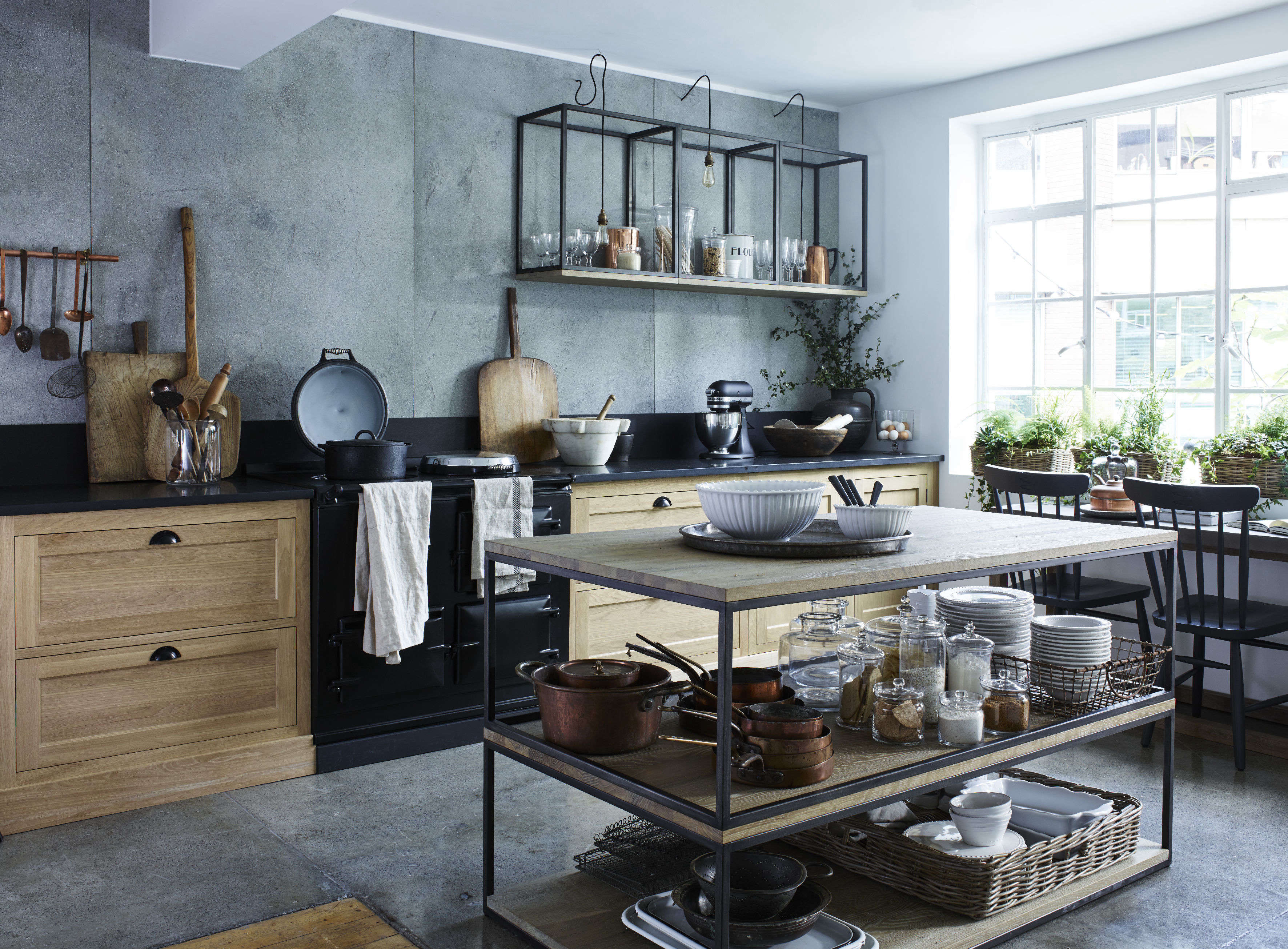 Design Sleuth: Stacked and Wall-Mounted Tables as Kitchen Storage ...