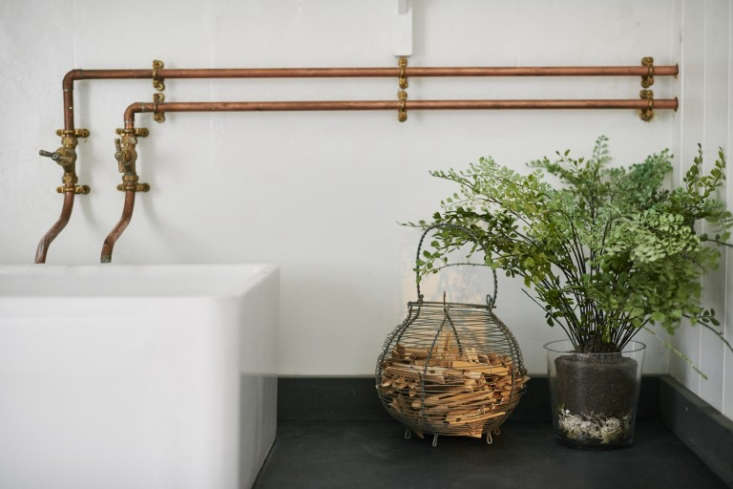 Photograph from Steal This Look: A Vintage Bath in England with a DIY Faucet.
