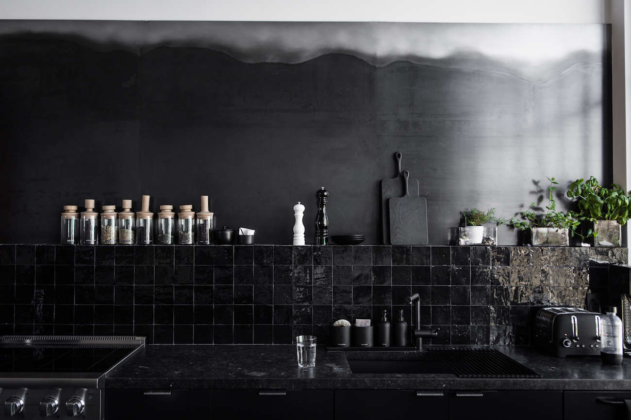 Kitchen Of The Week A Study In Black By Designer Nicole