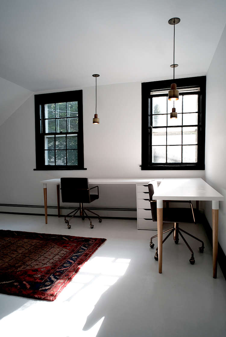 White-office-space-with-black-windows-space-exploration