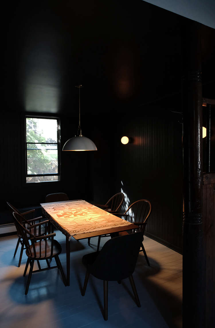 black-painted-dining-room-space-exploration