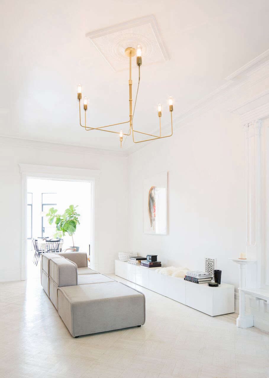 Serge Mouille Floor Lamp White
