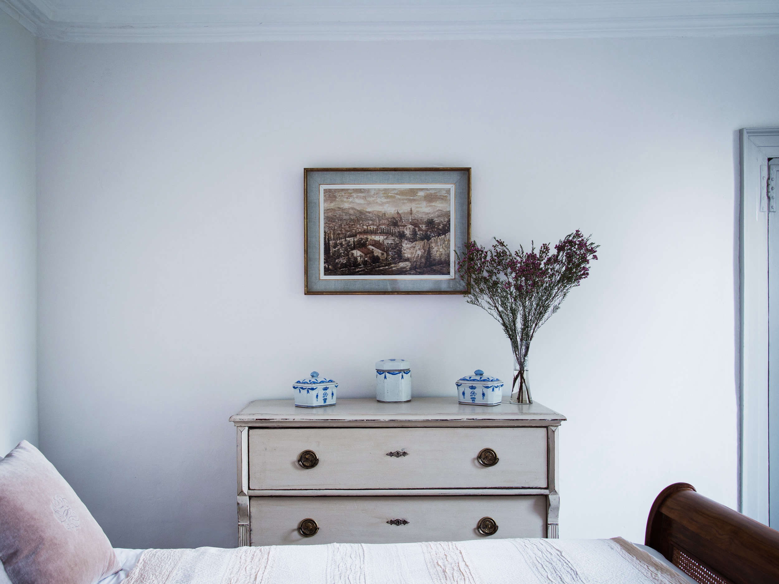 Chest of Drawers in Blue Dorset House by Mark Lewis, Photo by Rory Gardiner