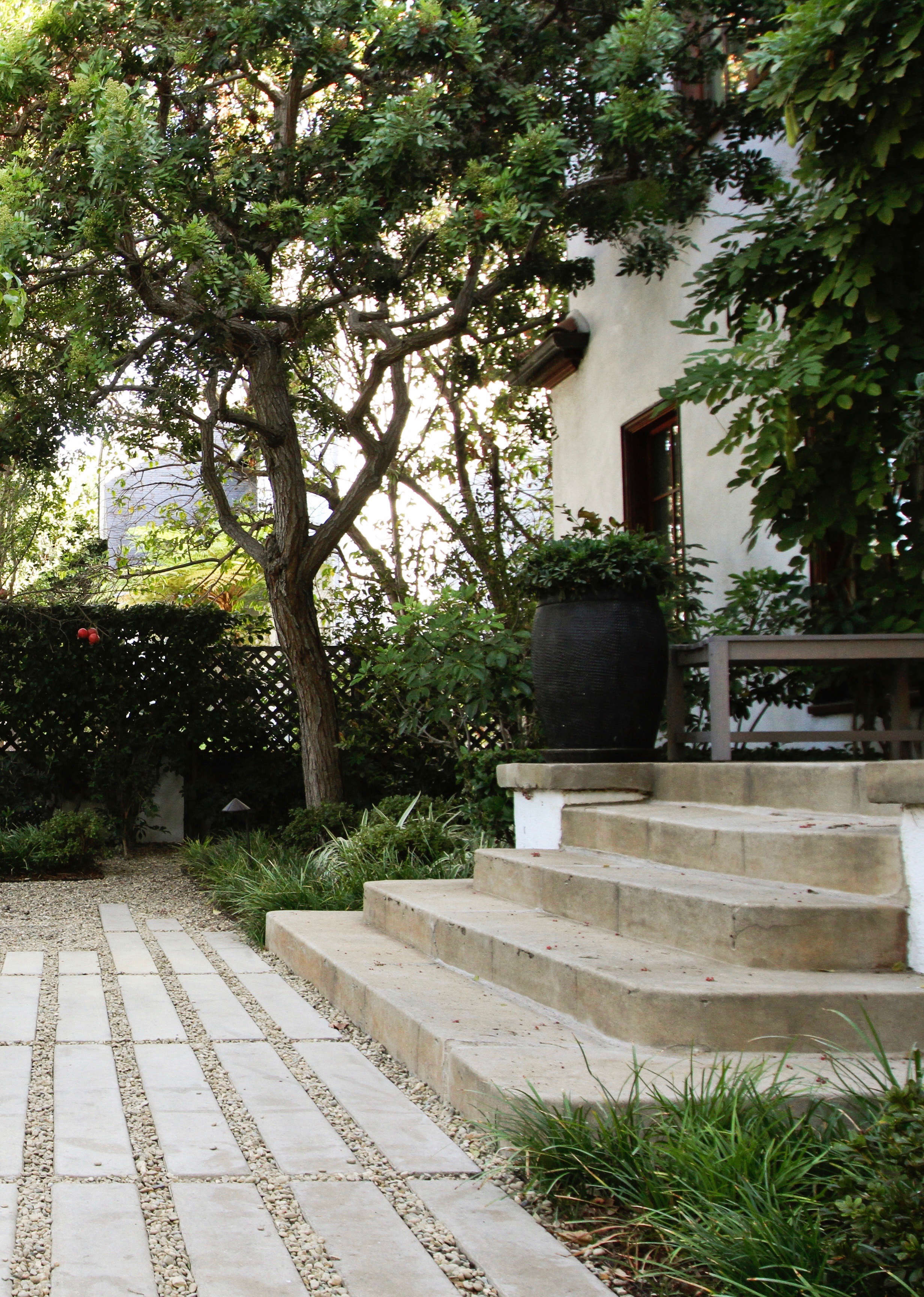 Designer Deals Club For Hancock - Above garden designer naomi sanders added a walkway of cast concrete pavers to match an existing concrete stoop in before after a grande dame in la s