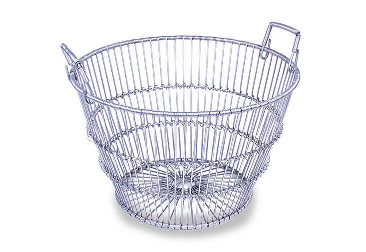 A 40-quart Bushel Clam Basket with grip handles is $53.95 from Clamming.