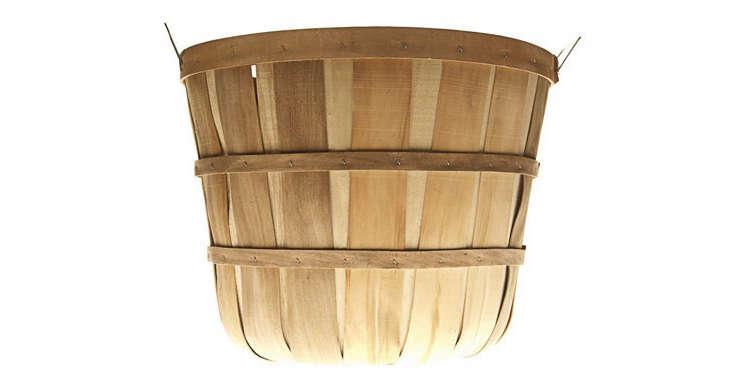 a 5 peck woven wood bushel basket sold in sets of 12