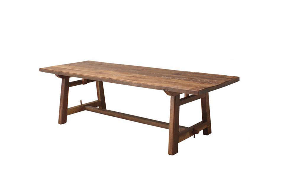 Large Patina Teak Refectory Table