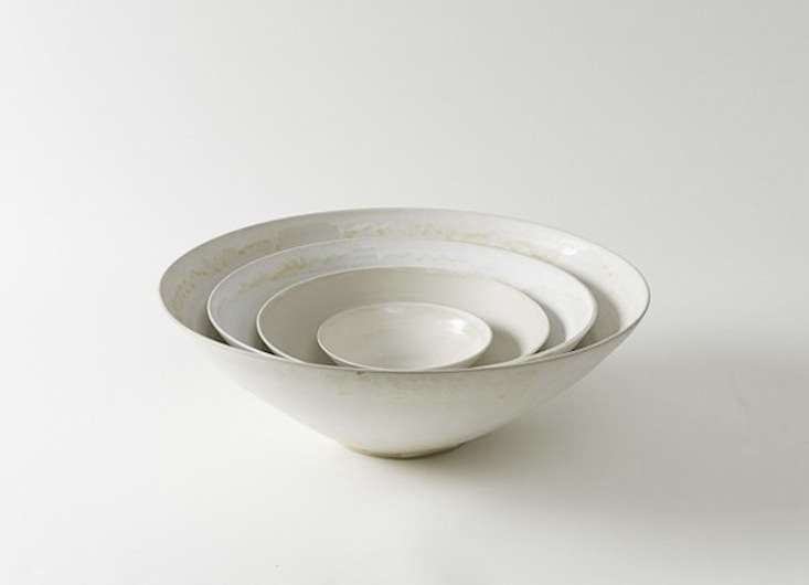 handmade in italy, the christiane perrochon white beige stoneware bowls are cur 11