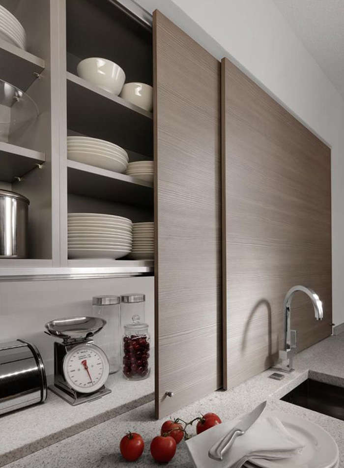 thin sliding cabinet doors in a kitchen by germany company beeck kuchen conceal 15