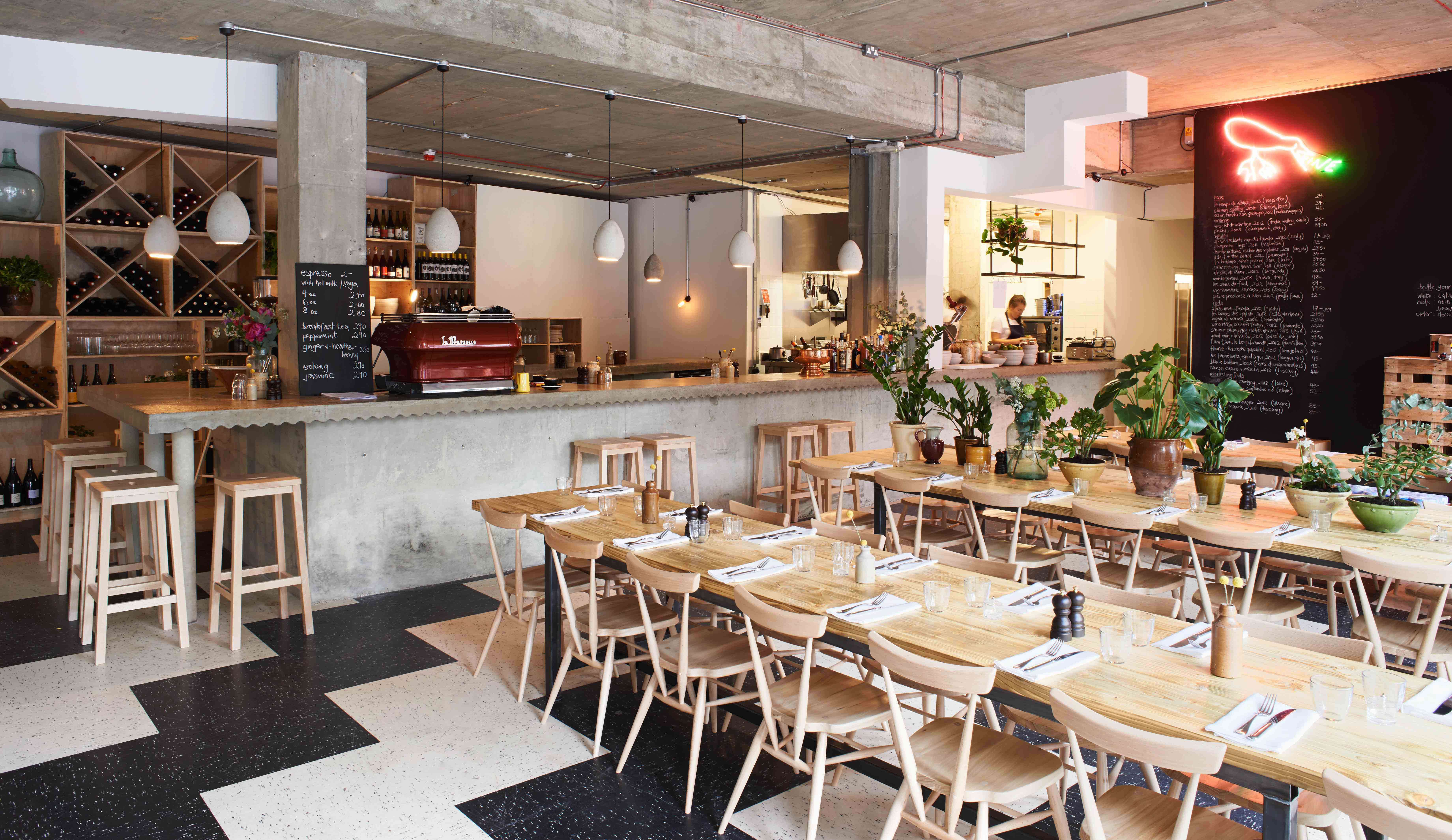Restaurant Visit Communal Tables And Biodynamic Wines At