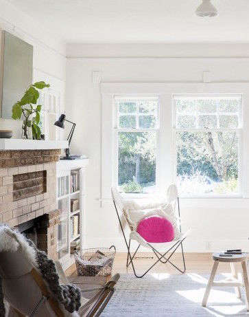 sarah lonsdale living room with pink cushion 20