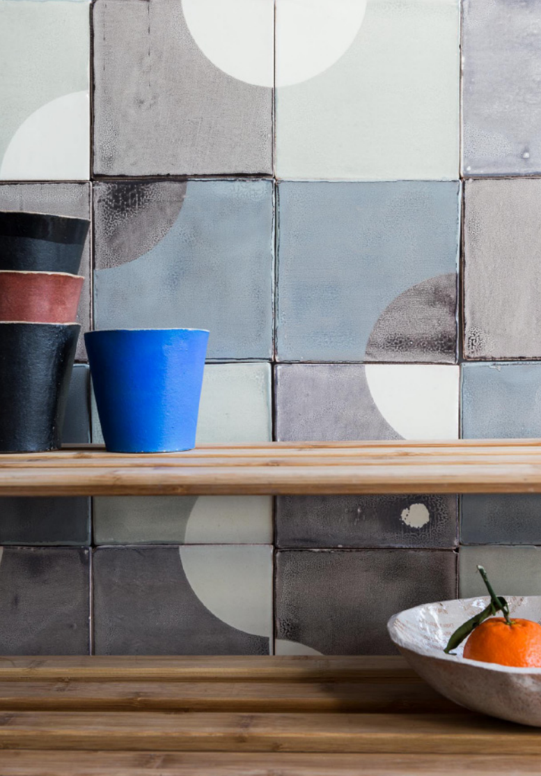 Kitchen Tiles London subtle imperfections: screen-printed ceramic tiles from a small