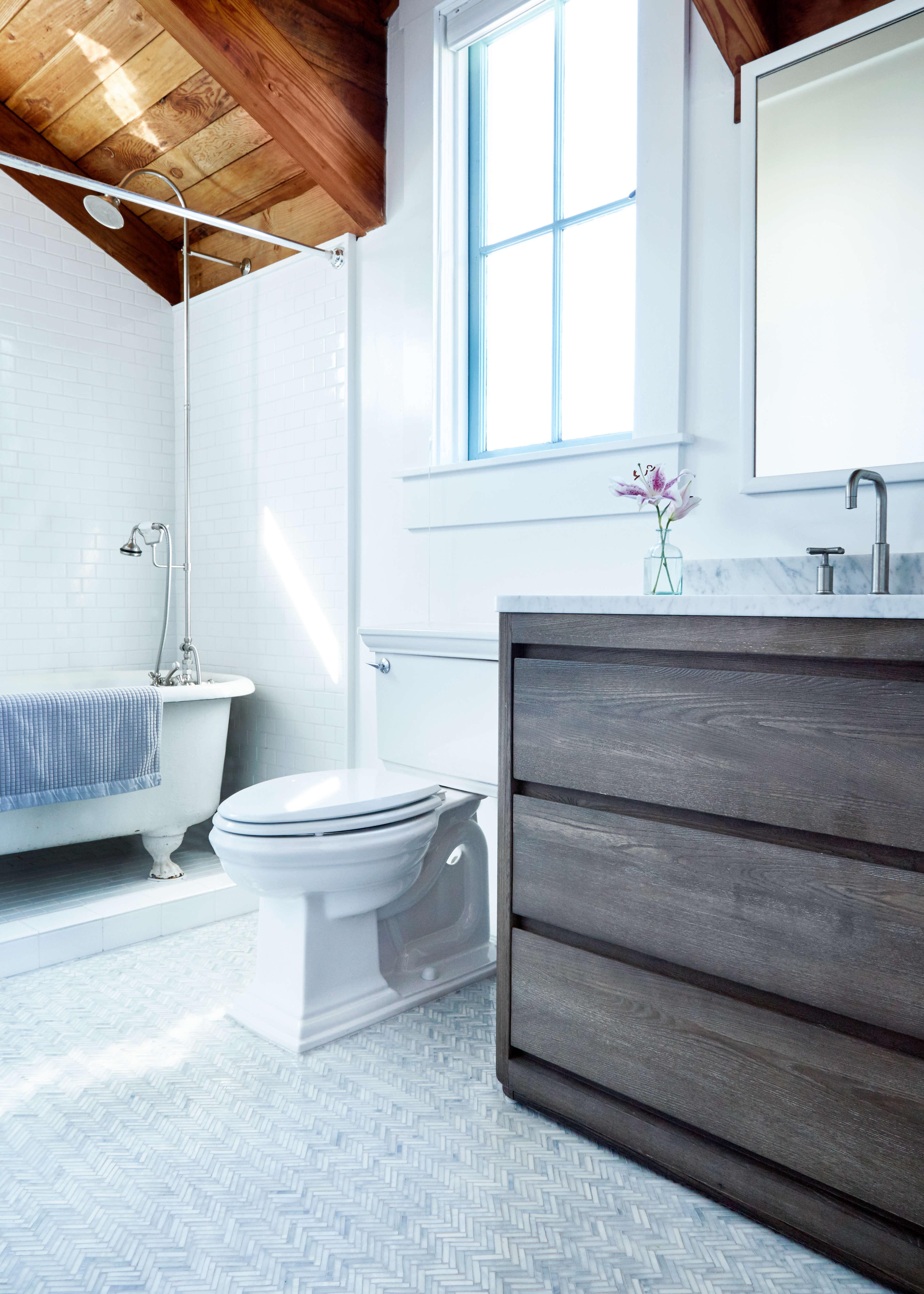 Mosaic floor tiles bathroom - Bathroom Glass Mosaic Floor By Sarah Myers Aya