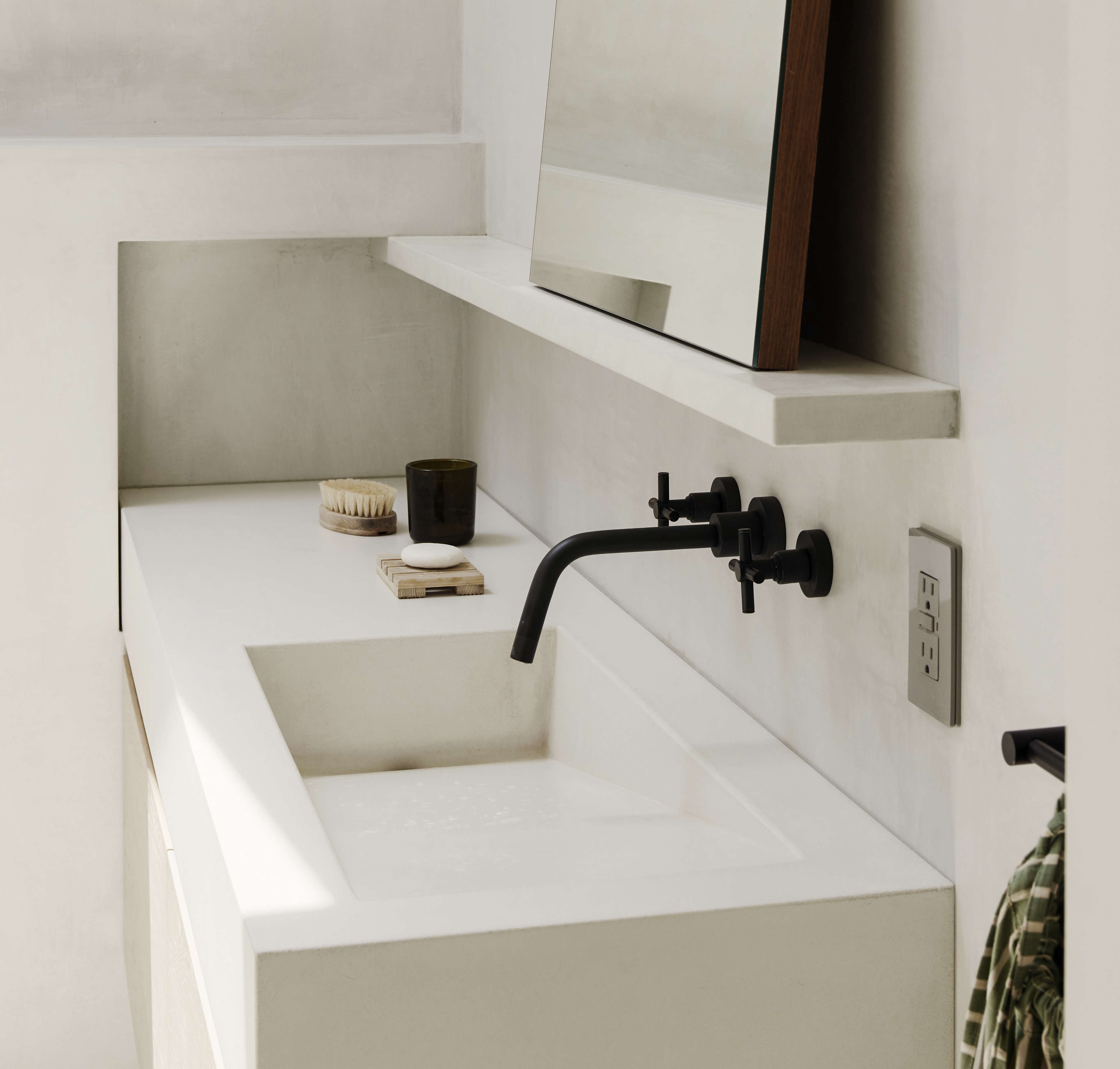 concrete bathroom sink bathroom of the week in heights an ethereal 12416