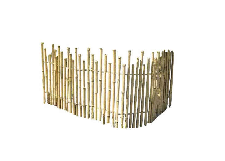 Above A Bamboo Picket Fence Made With 1 5 Inch Poles Can Be Ed Into Garden Wood Stakes For Installation Panels Are Available In