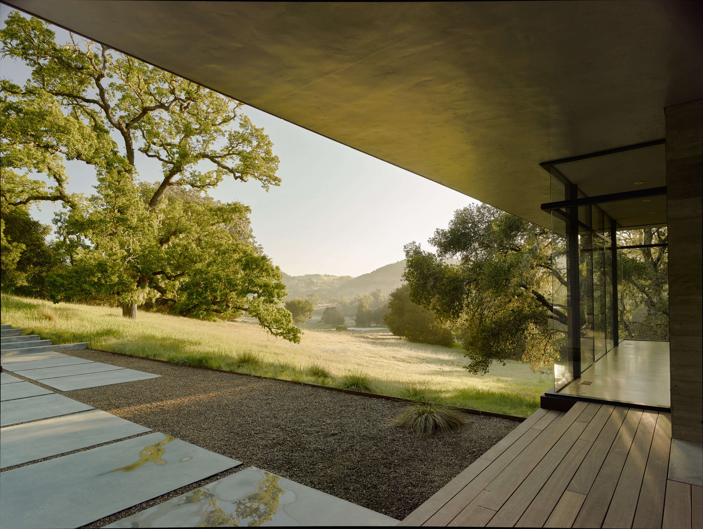 Carmel-Valley-Landscape-Mediterranean-concrete-slab-view-piechota