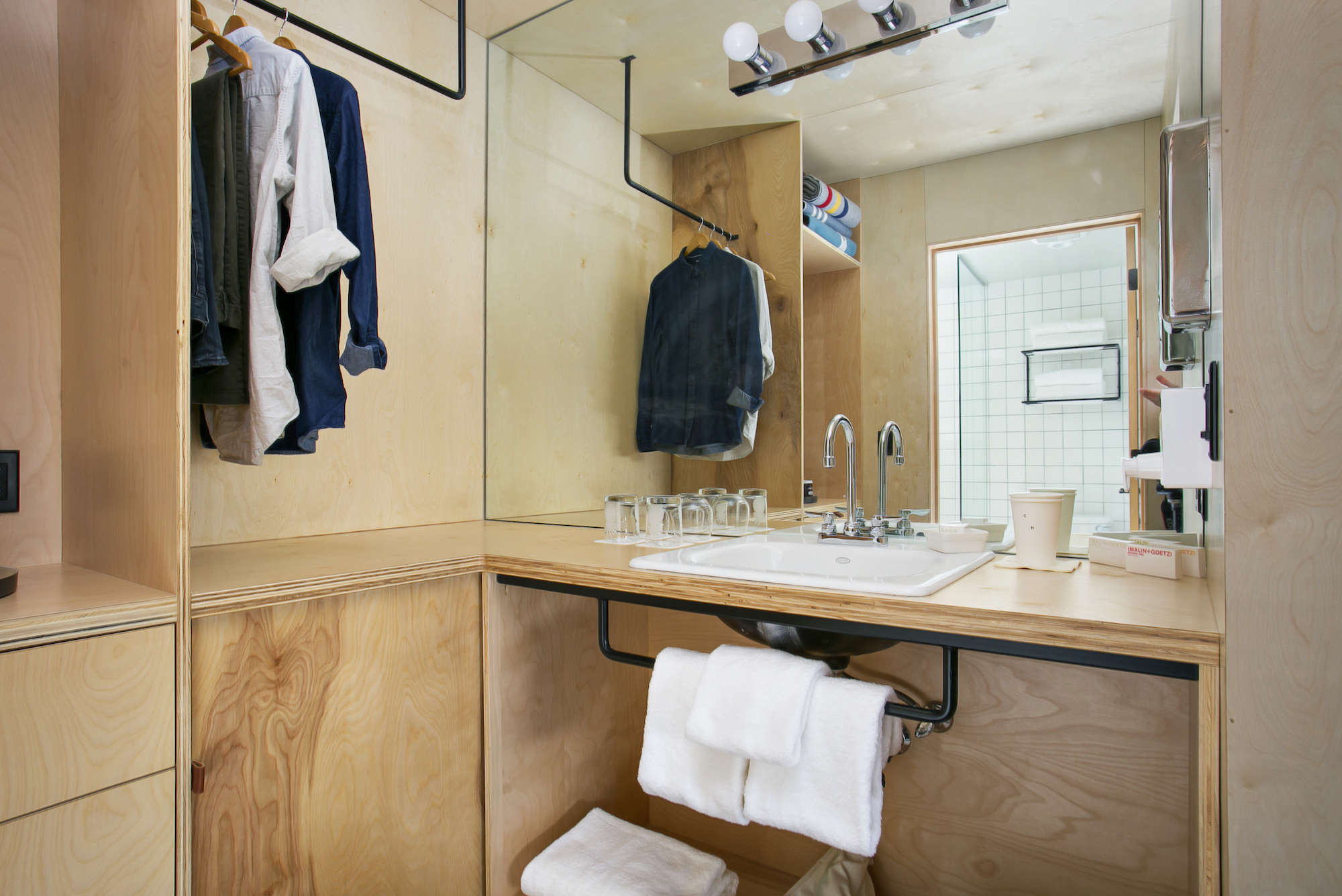 Bathroom of the Week: An Economical Plywood Bath in Tahoe
