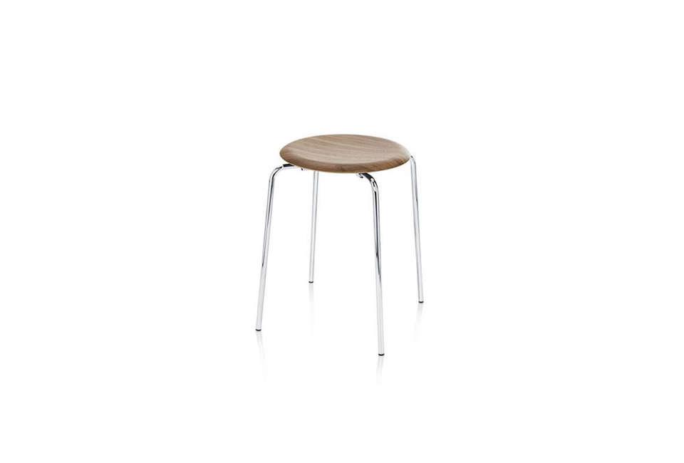Arne Jacobsen Dot Stool in Walnut