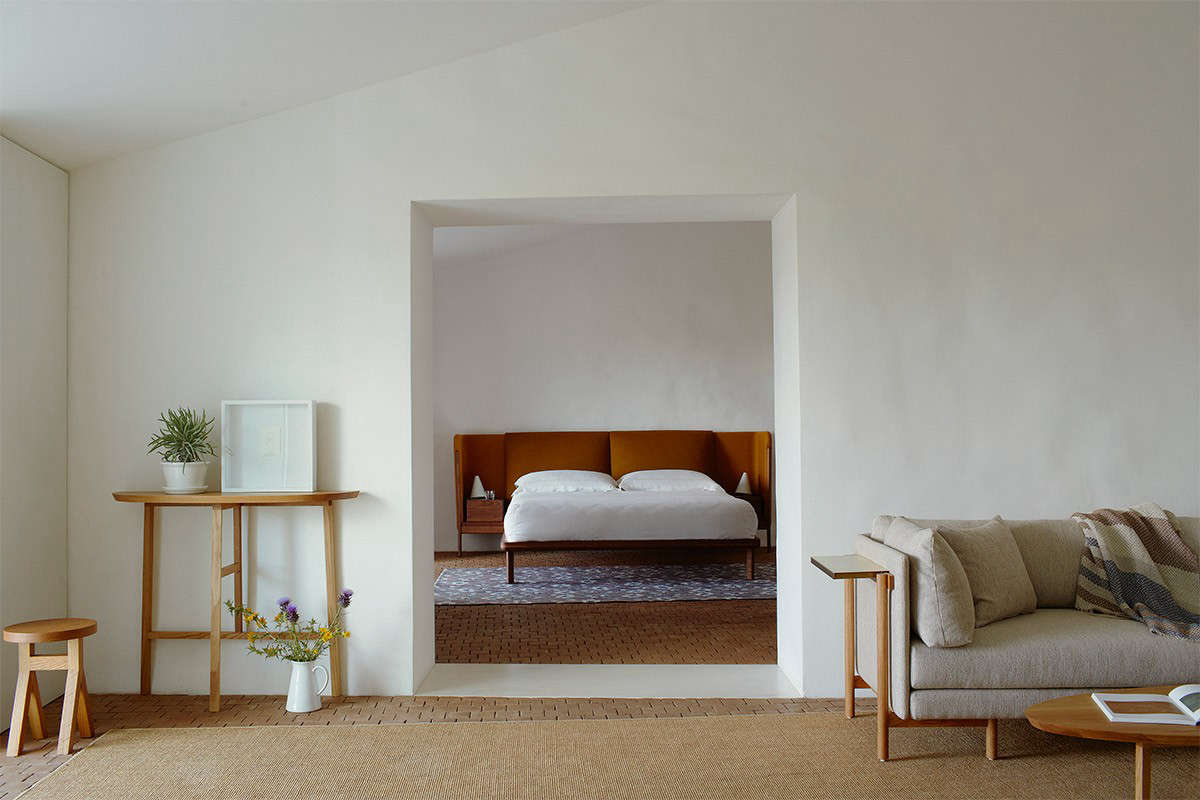 steal this look: a farmhouse bedroom with modern furniture