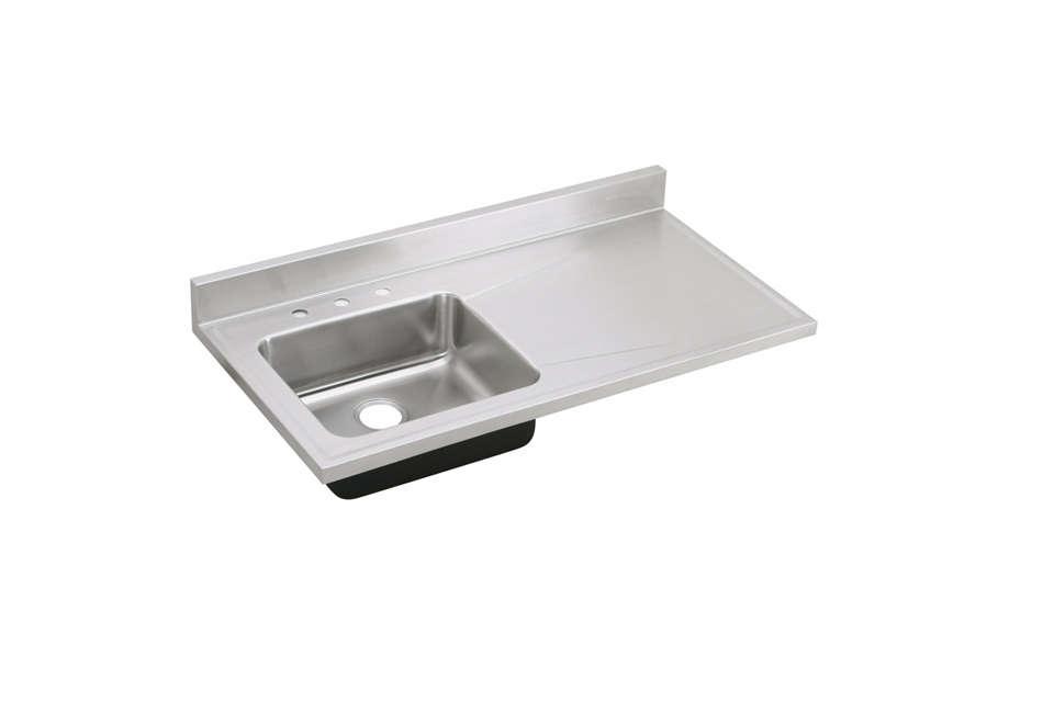 Elkay Lustertone Stainless Steel Single Bowl Sink Top