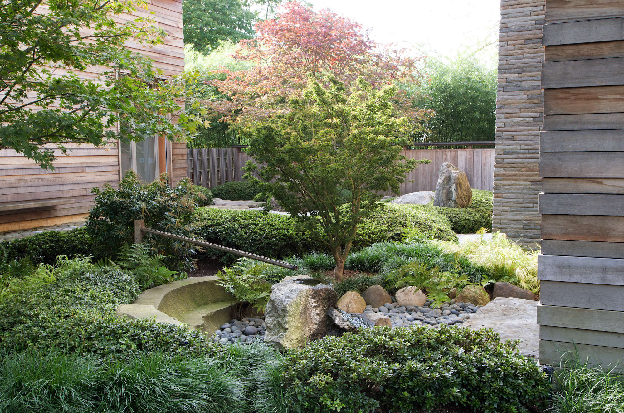 designer visit  a garden inspired by japan  in westchester county  new york