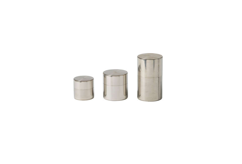 Kaikado Tea Canisters in Silver
