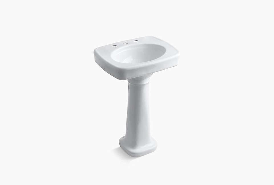 kohler memoirs pedestal sink 27 by 10 easy pieces traditional pedestal sinks remodelista