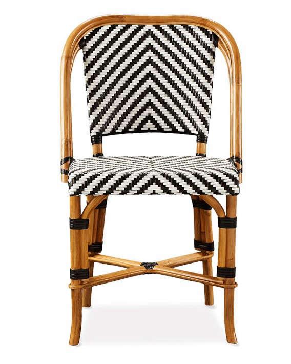 Parisian Bistro Woven Side Chair Remodelista