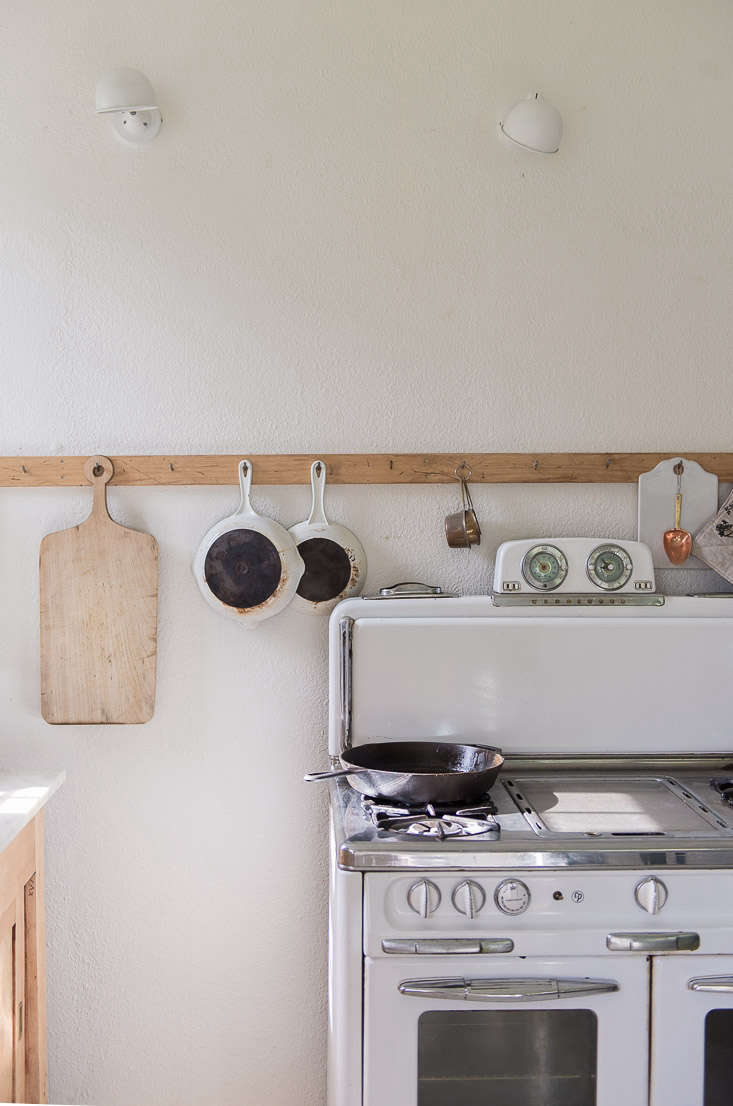 An antique Wedgewood stove in a blogger's Montana kitchen; see Kitchen of the Week: Rustic Chic on a Budget for more.