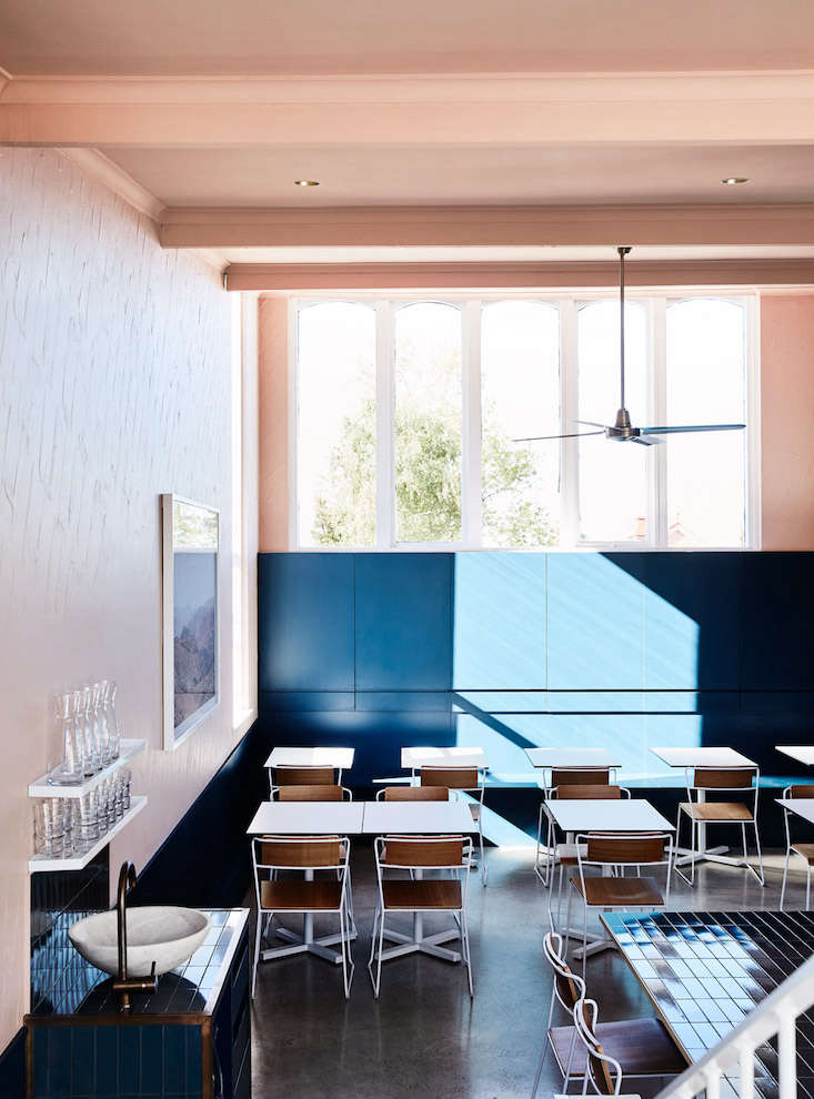 A Melbourne Restaurant With An Au Courant Color Palette