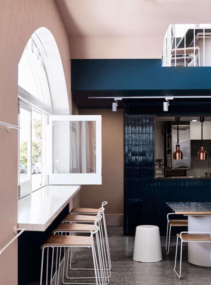 A Melbourne Restaurant With An Au Courant Color Palette